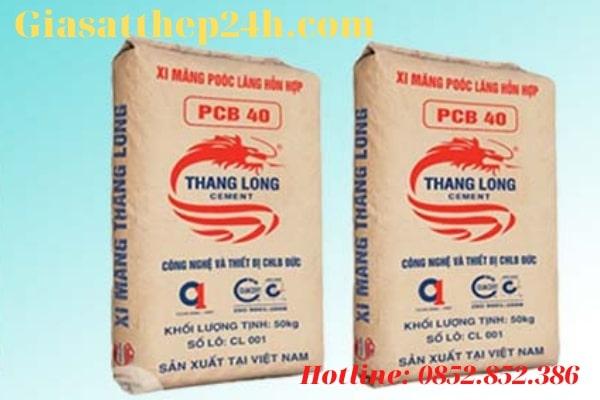 Gi á xi măng Thăng Long khá rẻ, chỉ 74.000đ/bao