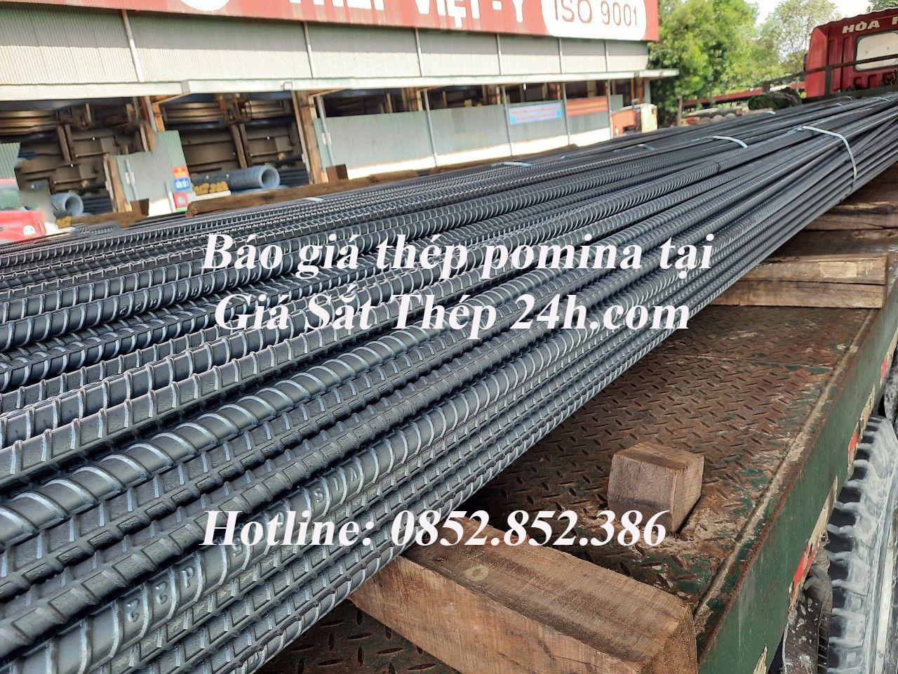 Báo giá sắt thép Pomina tại kho Giá Sắt Thép 24h